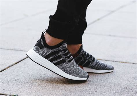 Adidas Nmd R2 Primeknit Bred White Premium Original 1 adidas nmd r2 harvest by9409 sneaker bar detroit