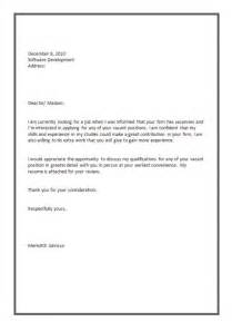 cover letter format for job application letter
