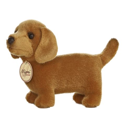 puppy stuff realistic stuffed dachshund 8 inch plush by