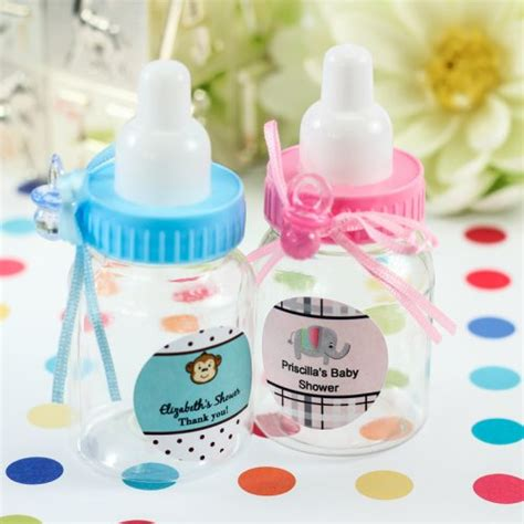 Bottle Baby Shower Favors by Personalized Baby Bottle Favors