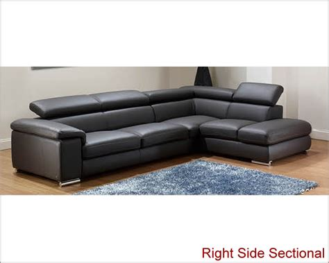 dark gray sectional modern leather sectional sofa set in dark grey finish 33ls131
