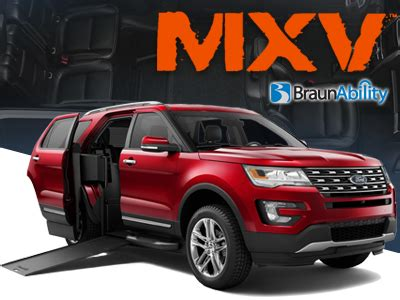 for sale: braunability mxv ford explorer wheelchair suv's