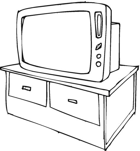 free coloring pages of child watching television