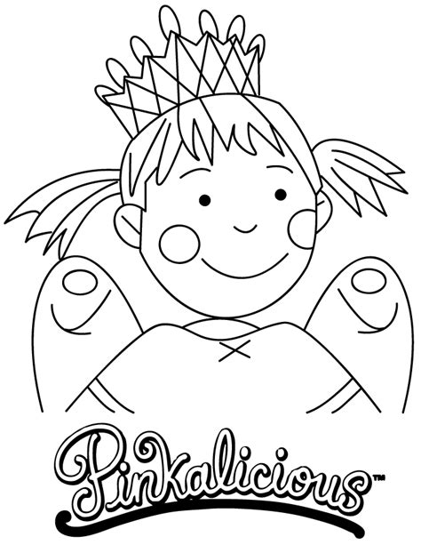 pinkalicious coloring page h m coloring pages
