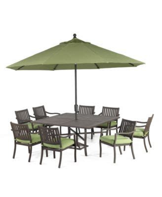 Macys Patio Dining Sets Holden Outdoor Patio Furniture 9 Set 64 Quot Square Dining Table And 8 Dining Chairs