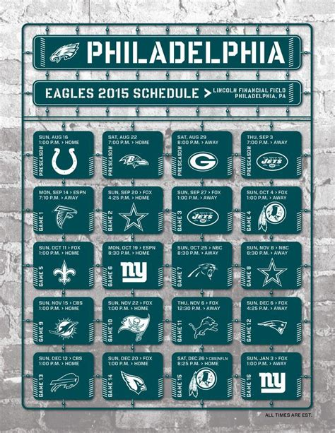 printable eagles schedule 2015 philadelphia eagles 2017 schedule wallpapers wallpaper cave