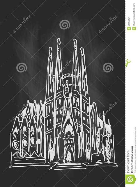 Sagrada Familia Desenho Preto E Branco Vetor - Hippie Blog