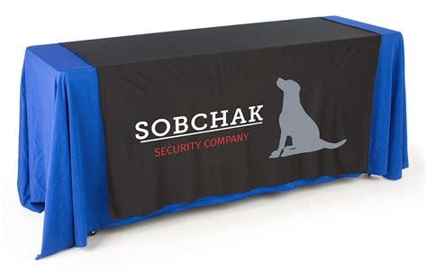 promotional table runners tradeshow linens in an array