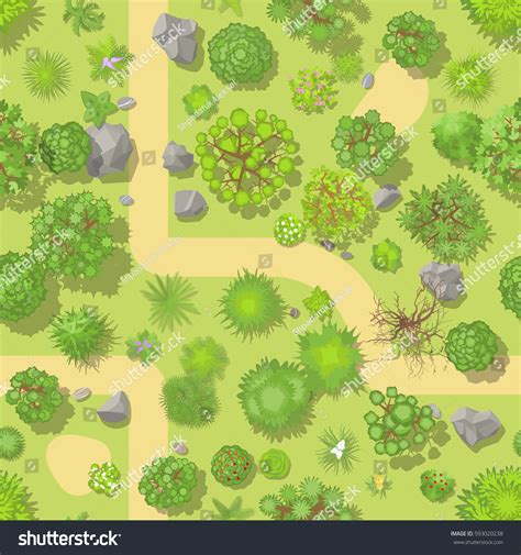 stock pattern viewer seamless pattern forest top view park stock vector