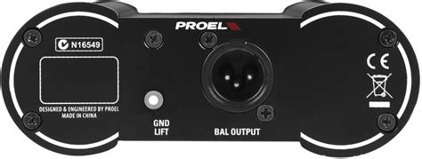 Proel Direct 100p Passive Direct Injection Box proel direct100p passive single channel d i box musical