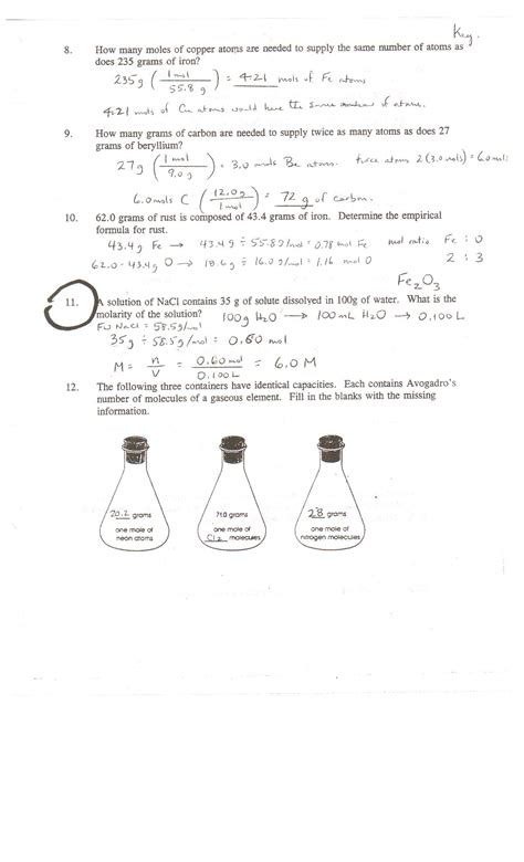 Chemistry Of Review Worksheet Answers by Worksheets Chemistry Review Worksheet Answers