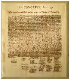 The revised version of the declaration of independence was not adopted