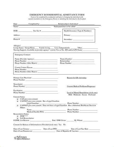 Emergency Room Discharge Template hospital discharge papers printable 45782740 png pay