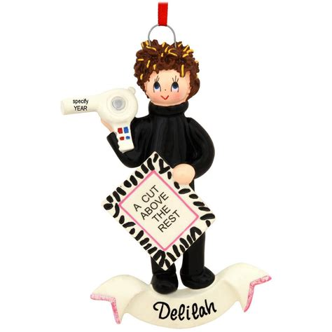 personalized hair stylist ornament bronner s christmas