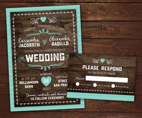 Wedding Invitations With Woods Themes by 10 Country Rustic Wedding Invitations With Rsvp Barn