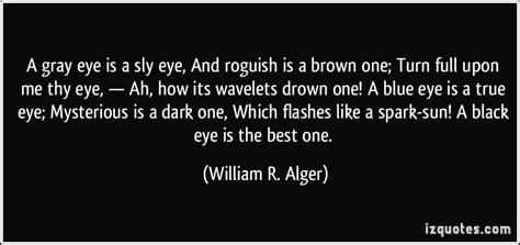 Quotes About Gray Eyes | a gray eye is a sly eye and roguish is a brown one turn