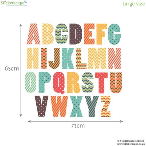 large alphabet wall stickers retro alphabet wall sticker alphabet wall stickers
