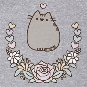 pusheen love floral ladie s tank top thinkgeek