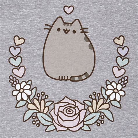 Pusheen Love Floral Ladie's Tank Top   ThinkGeek