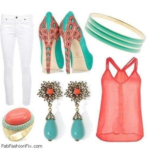 7 Ways To Wear Turquoise by Style Guide 6 Chic Ways To Wear Coral And Turquoise