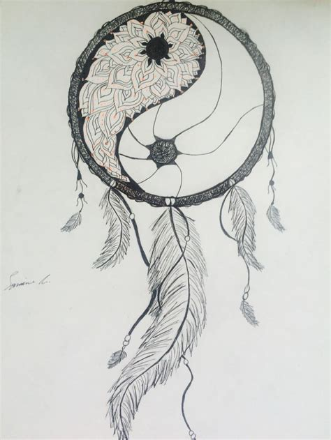 tattoo inspiration dreamcatcher please catch my nightmares yin yang mandala dream catcher