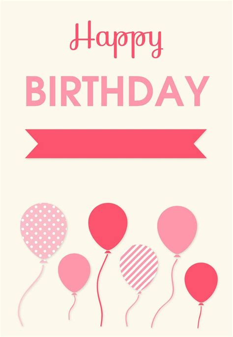 Happy Birthday Card Template by 138 Best Images About Birthday Cards On Free