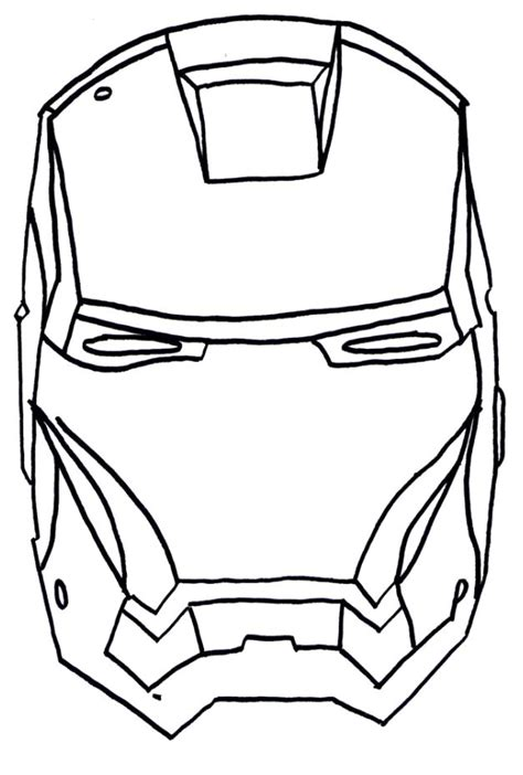 coloring page of iron man mask ironman head outline clipart best