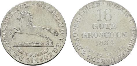 orientalische möbel hannover 16 gute groschen 1834 a hannover wilhelm iv 1830 1837