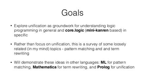 pattern matching and unification term logic