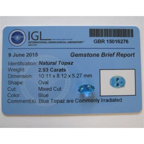 Topaz Swiss 24 Carat Warna Tajam jual batu permataswiss blue topaz asli oval cut 2 93 carat