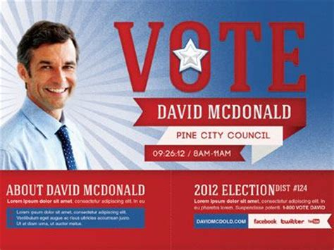political flyers flyer design political mailer postcard