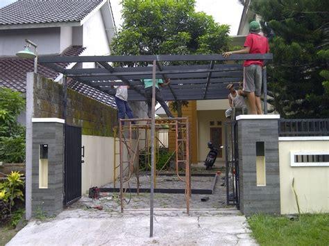 membuat rumah dari baja ringan 27 desain kanopi rumah minimalis baja ringan berbagai