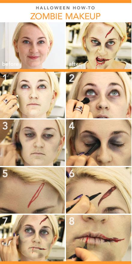 zombie yourself tutorial diy halloween zombie makeup tutorial halloween