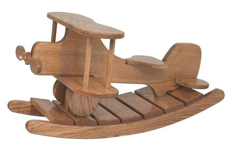 amish wooden airplane rocker wood rocking horse wooden
