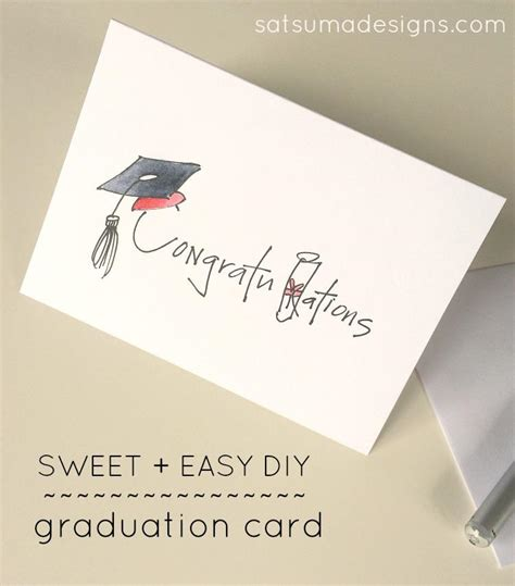 graduation money card template diy graduation card satsuma designs