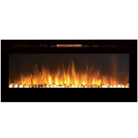 Recessed Electric Fireplace Sydney 50 Inch Pebble Recessed Pebble Wall Mounted Electric Fireplace