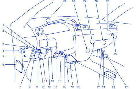 wiring diagram   mitsubishi diamante fuse box