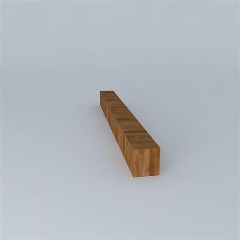 wood block bench wooden block bench free 3d model max obj 3ds fbx stl skp