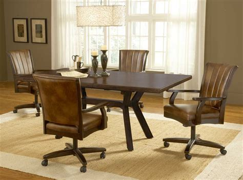 Dining Room Chair Casters by Dining Room Chairs With Casters Home Design Ideas
