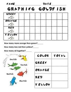 printable goldfish graph one fish two fish red fish blue fish graphing activity