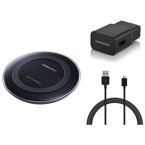 samsung oem original wireless qi fast charging pad cable wall adapter black ebay