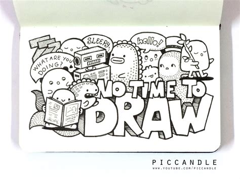 how to draw cool doodle doodle no time to draw by piccandle on deviantart