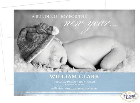 new year birth years free shipping new years baby birth announcement modern