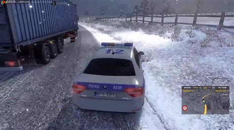 game modding euro truck simulator mods ets2mp december 2015 winter mod police car video