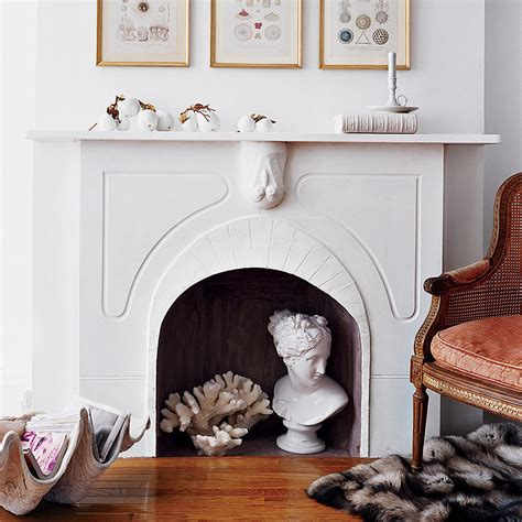 what to do with unused fireplace summer fireplace decor ideas popsugar home