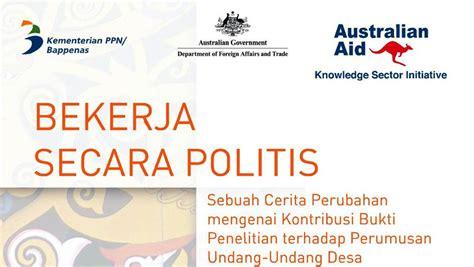 Kitab Undang Undang Desa Edisi Kedua story of change indonesia s new