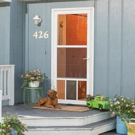 shop larson pet view brown mid view aluminum storm door