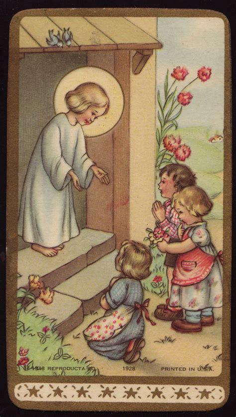 holy cards  children god