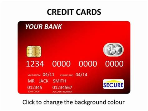 free bank card template credit cards template