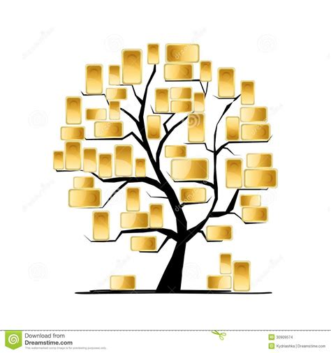 concept your design golden tree concept for your design stock images image